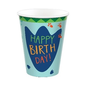 P/8 Vaso Happy Dino Party