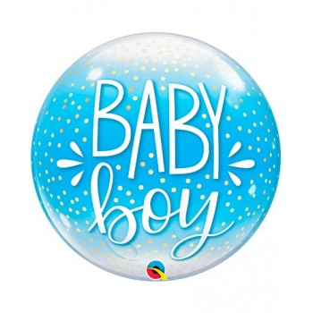 Globo Burbuja Baby Boy Azul
