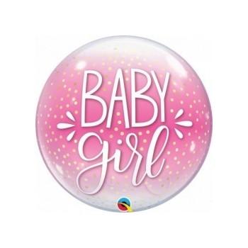 Globo Burbuja Baby Girl Rosa