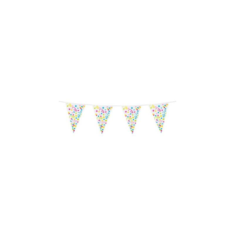 Banderin 10Mt Confetti Colores