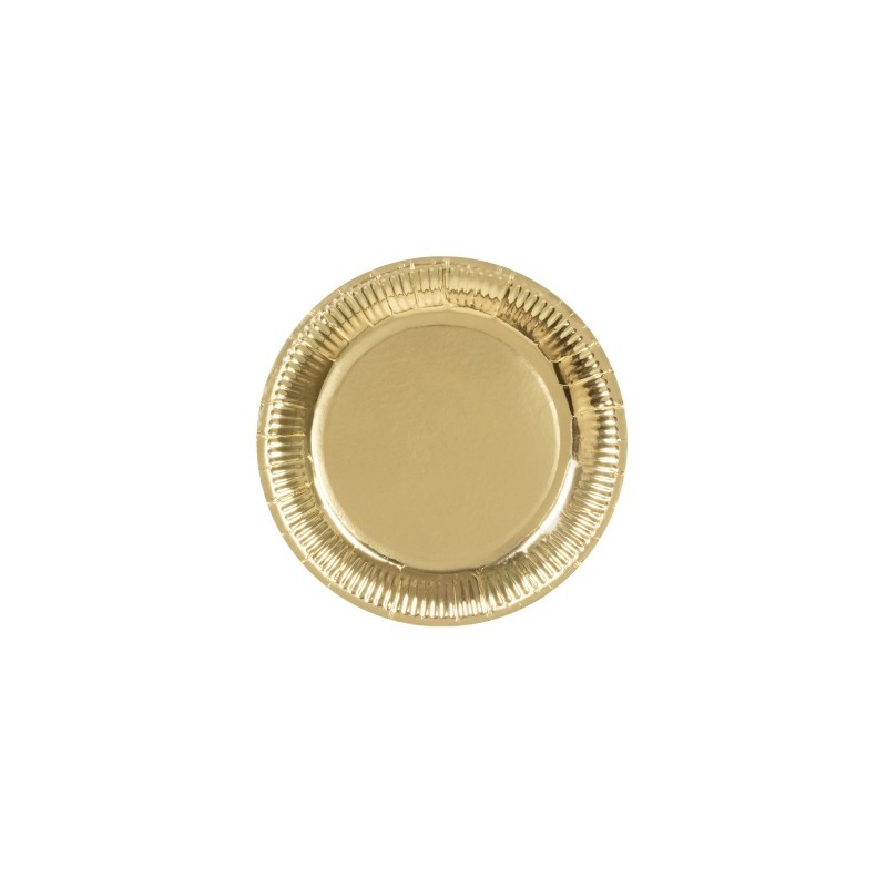P/6 Plato 23Cm Carton Oro
