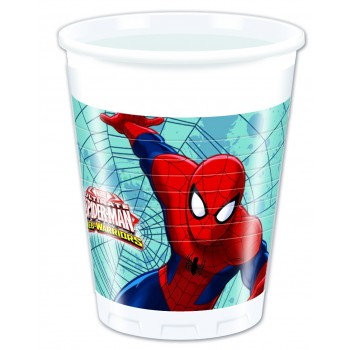 P/8 Vasos Spiderman Ultimate