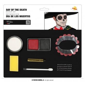 Set Maquillaje Dia De Muertos