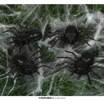 B/4 Arañas 10Cm Plastico