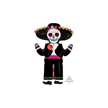 Globo Esqueleto Mejicano 86Cm