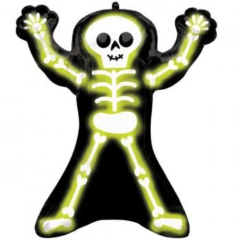 Globo Esqueleto Neon 68X76cm