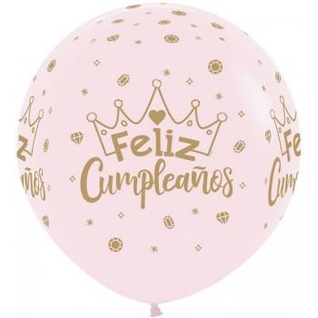Globo R24 Rosa Feliz Cumpleaño