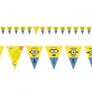 Banderin Minions Happy Bday 3M