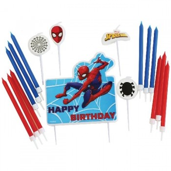 Set Velas Spiderman