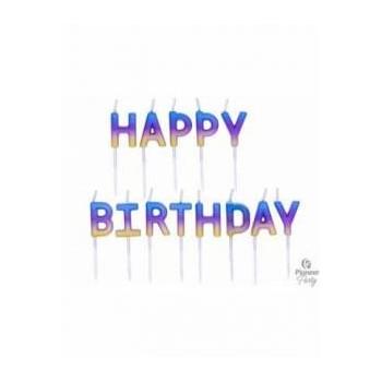 Vela Happy Bday Arcoiris