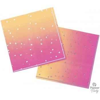 P/16 Serv. Oro/Rosa Confetti