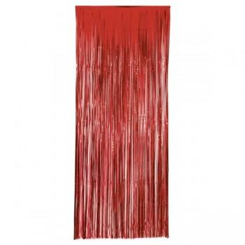 Cortina Metal Rojo 1X2,40Mt