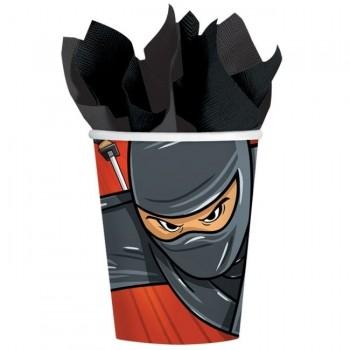 P/8 Vasos cartón Ninja