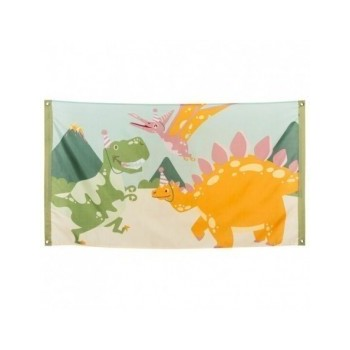 Bandera Dino Party 90X150cm