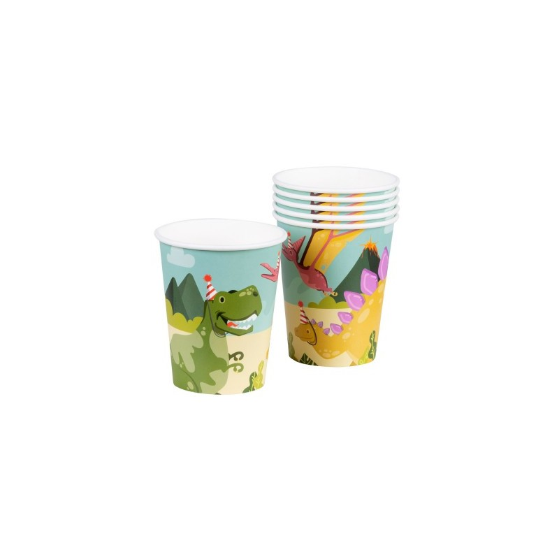 P/6 Vaso Carton Dino Party