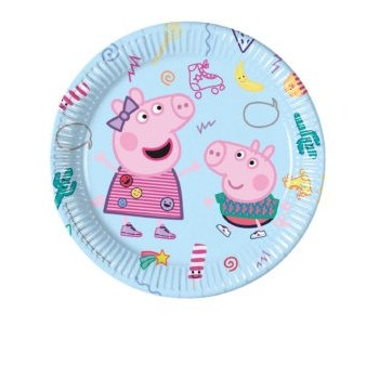 P/8 Plato 23Cm Peppa Pig Chuch