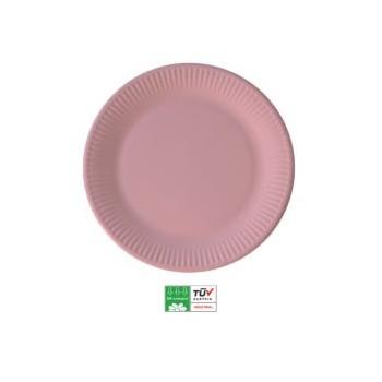 P/8 Plato 23Cm Carton Rosa