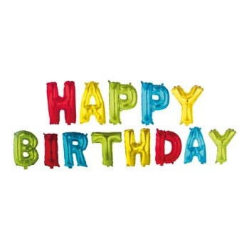 Globos Letras Happy Birthday