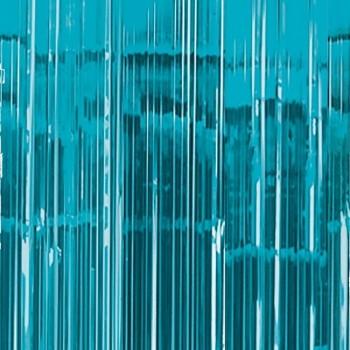 Cortina Deco.Azul Caribe Metal