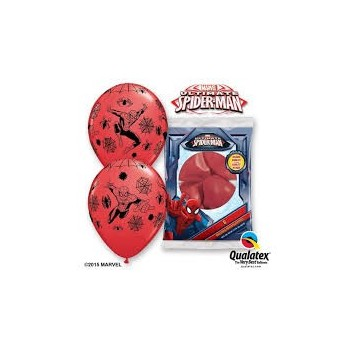 "P/6 Globos 12""Spiderman Rojos"