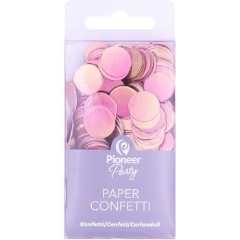 Confetti Papel Oro Rosa 20Gr