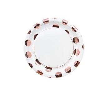 P/8 Plato 23Cm Topos Oro Rosa