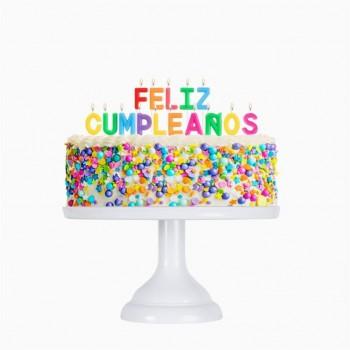 """Velas """"Feliz Cumpleaños""""3Cm"""