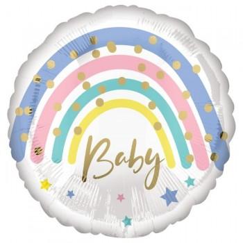 "Globo 18"" Baby Arcoiris Satin"