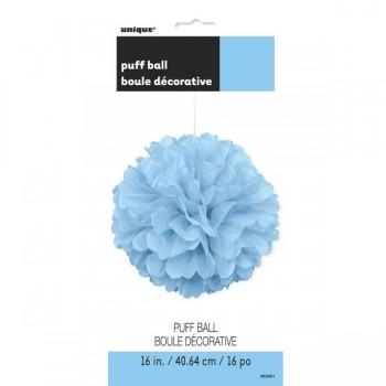 Colg.Pompon Azul Pastel 40Cm