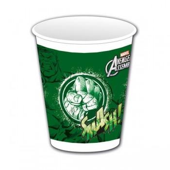 P/8 Vasos Hulk Vengadores