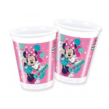 P/8 Vasos Minnie Dots