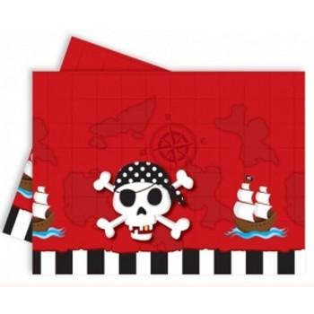 Mantel Pl. Pirata Calavera