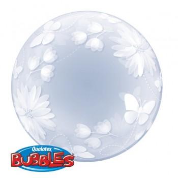 Globo Burbuja Mariposas+Flores