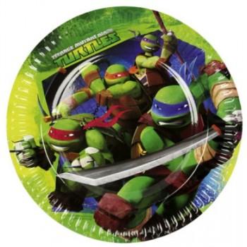 P/8 Platos 23Cm Tortugas Ninja
