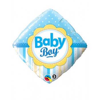 Globo Rombo Azul Baby Boy