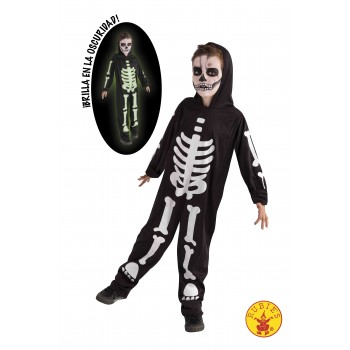 Disf.Inf.Skeleto Glow Dark T-S 3-4 AÑOS