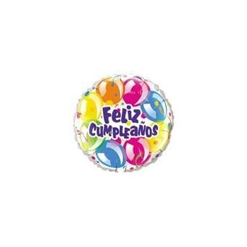 """Globo 18""""Feliz Cumple Globos"""