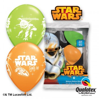 P/6 Globos Star Wars Latex