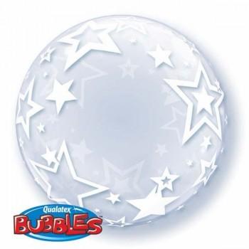 Globo Burbuja Estrellas Blanca