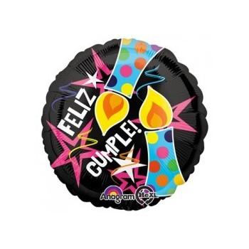 """Globo 18""""Feliz Cumple Vela/Est"""