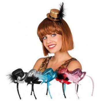 Mini Sombrero C/Glitter Surt.