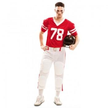 Disf.Jugador Rugby Rojo T-S