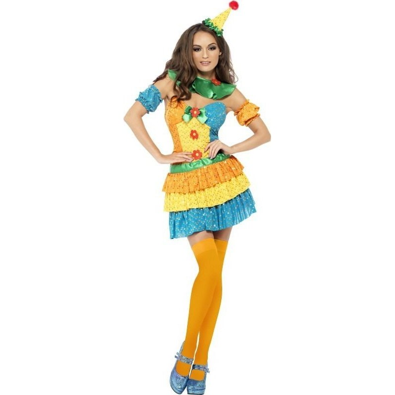 Disf.Chica Payaso Colores T-S