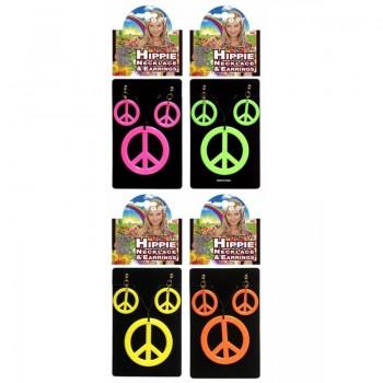 Collar+Pendientes Hippie Paz