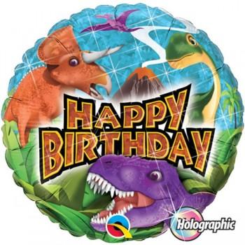 """Globo 18""""Dinosaurios Happy Bda"""