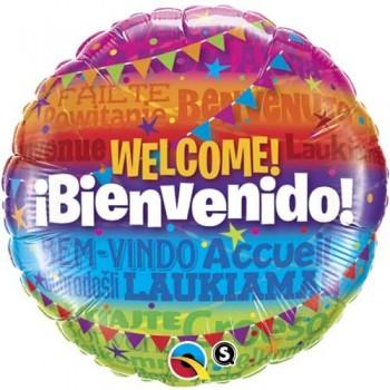 """Globo 18""""Welcome-Bienvenido"""