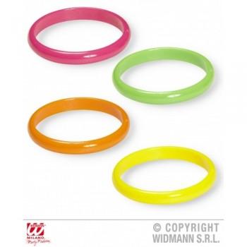 Set 4 Brazaletes Color Fluor