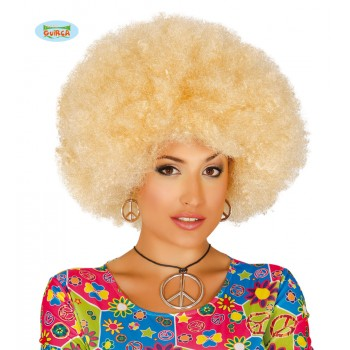 Peluca Afro Rubia Extra