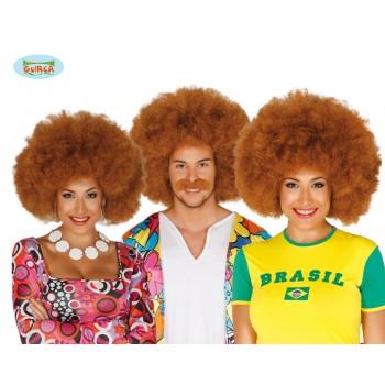 Peluca Afro Castaña Extra