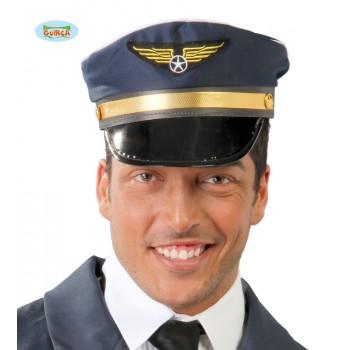 Gorra Piloto Azul